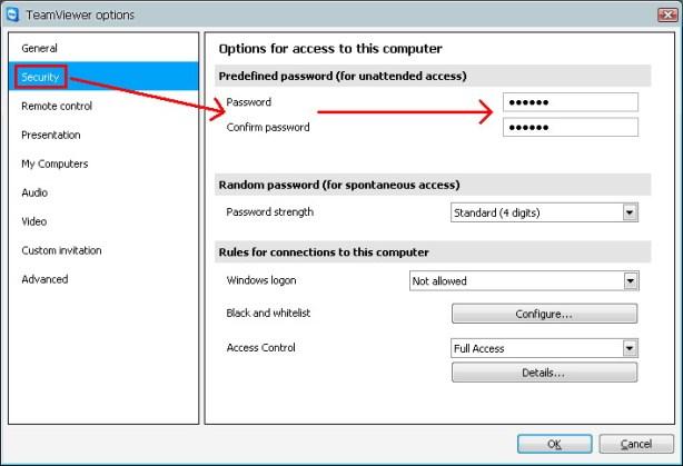 Predefined Password