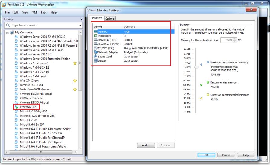 Proxmox-at-VMWare-Workstation