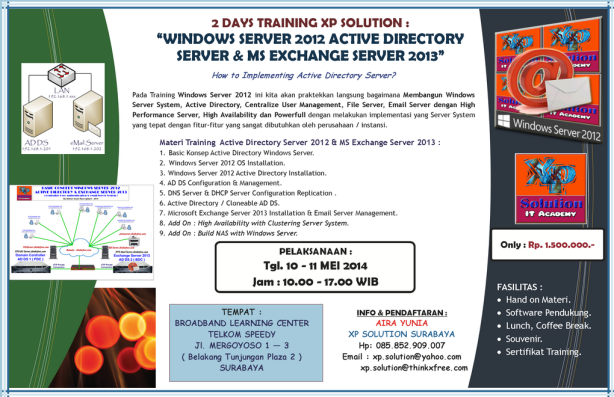 Brosur-Info-Workshop-WINDOWS-SERVER-2012-ACTIVE-DIRECTORY-SERVER-and-EXCHANGE-SERVER-2013-10-11-Mei 2014-Small